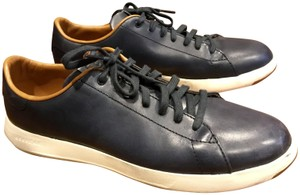 Cole Haan Mens Leather Tennis Like New Navy Athletic