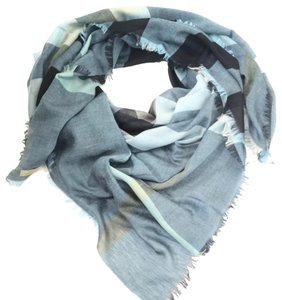 Burberry slate blue Relaxed Mega Check scarf.