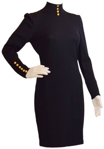 St. John short dress Black Santana Knit Marie Gray Never Stretch Us Made on Tradesy