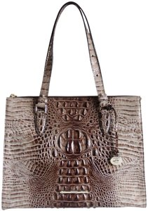 Brahmin Leather Melbourne Tote In Brown