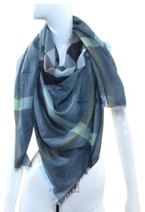 Burberry slate blue Relaxed Mega Check scarf
