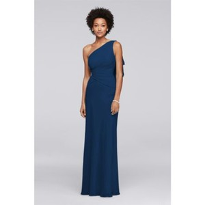 ac84c647c8ce3 David s Bridal Marine Chaffon 29170080 Formal Bridesmaid Mob Dress Size ...