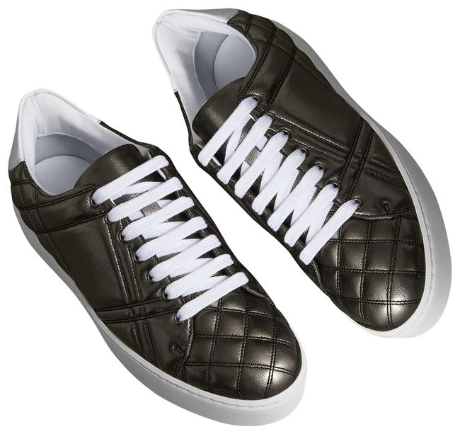 Item - Black Silver Metallic Westford Quilted Leather Low-top Sneakers Size EU 39 (Approx. US 9) Regular (M, B)