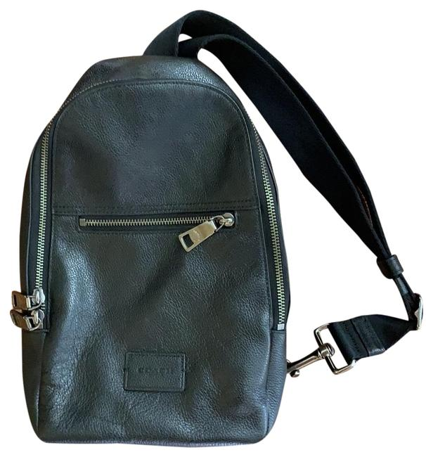 Coach Single-strap Black Leather Backpack Coach Single-strap Black Leather Backpack Image 1