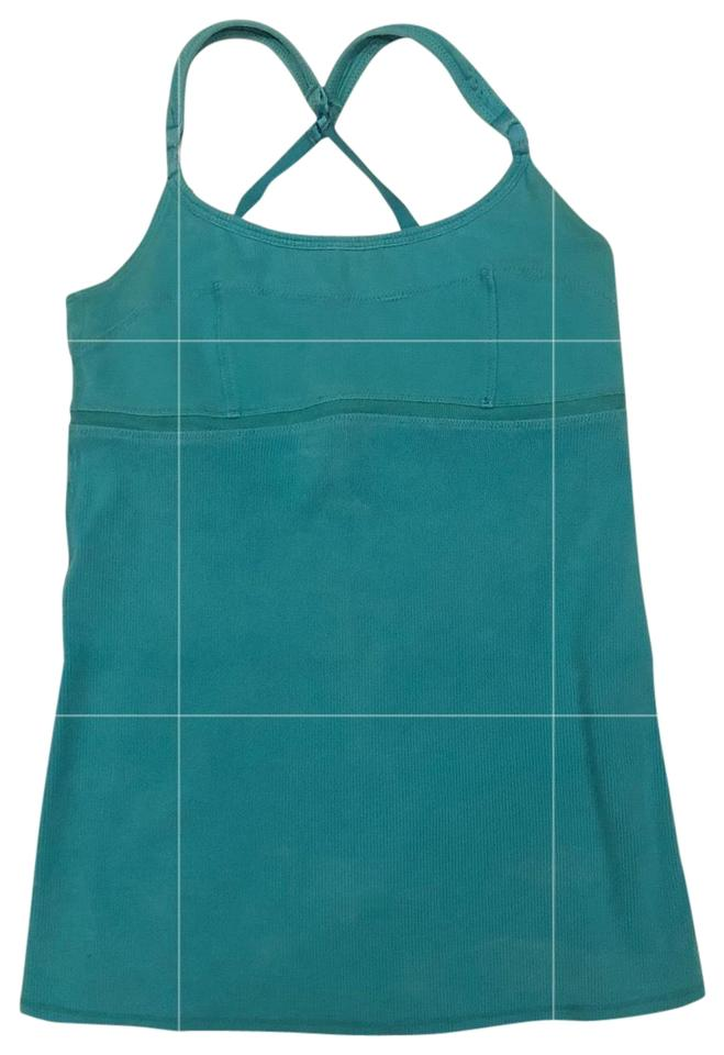 459a681fc59ef Lululemon Teal Turquoise Ribbed Adjustable Tank Activewear Top. Size  4 ...