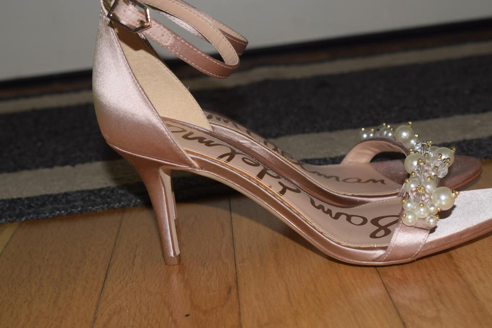 9674c793408c49 Sam Edelman Light Pink Satin Platt Ankle Strap Sandals Size US 6 ...