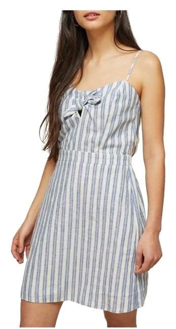 Item - Striped Tie-front Short Casual Dress Size 10 (M)