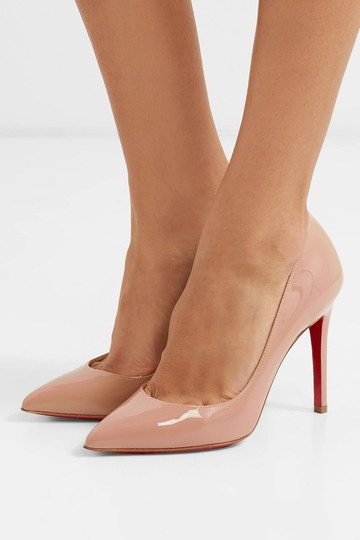Christian Louboutin Nude Prive 120 Patent Leather Open