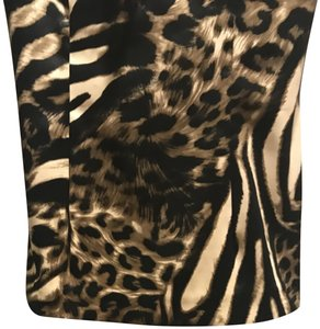 Jessica McClintock Top Tiger print