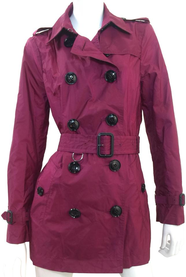 0fd0e42fae Burberry Berry Pink Lightweight Trench | | (Us)8 (Uk)10 Coat Size 8 ...