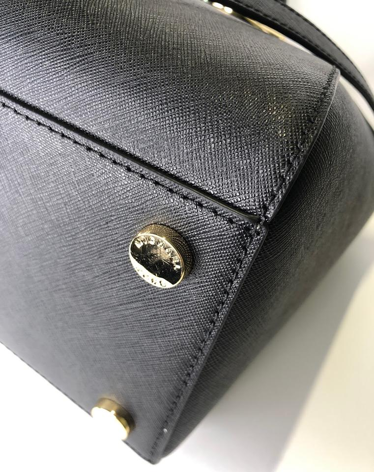 e8aacba2314a Michael Kors Ciara Trifold Matching Wallet Satchel in Black Image 11.  123456789101112