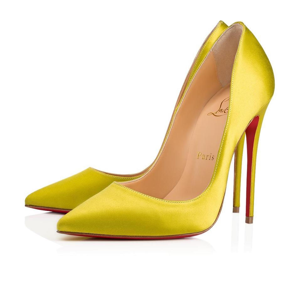 timeless design 9ae48 866bb Christian Louboutin Yellow So Kate 120 Bourgeon Satin Classic Stiletto  Pointed Toe Heel Pumps Size EU 36 (Approx. US 6) Regular (M, B)