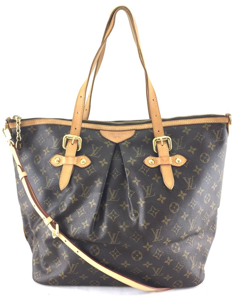f0df2026ecd8 Louis Vuitton Palermo  24601 Gm Tote Zip Top Work Everyday Monogram Coated  Canvas Shoulder Bag