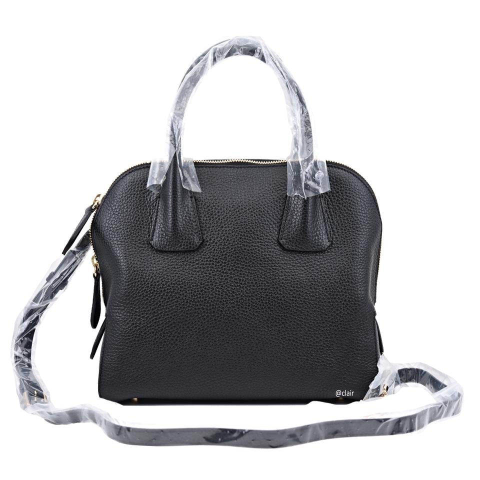 Burberry Grainy London Greenwood Bowling Black Leather Satchel - Tradesy 4e52b6ed3c3d0