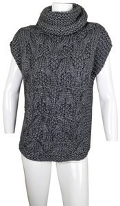 Adam Lippes Wool Cable Knit Turtleneck Textured Chunky Sweater