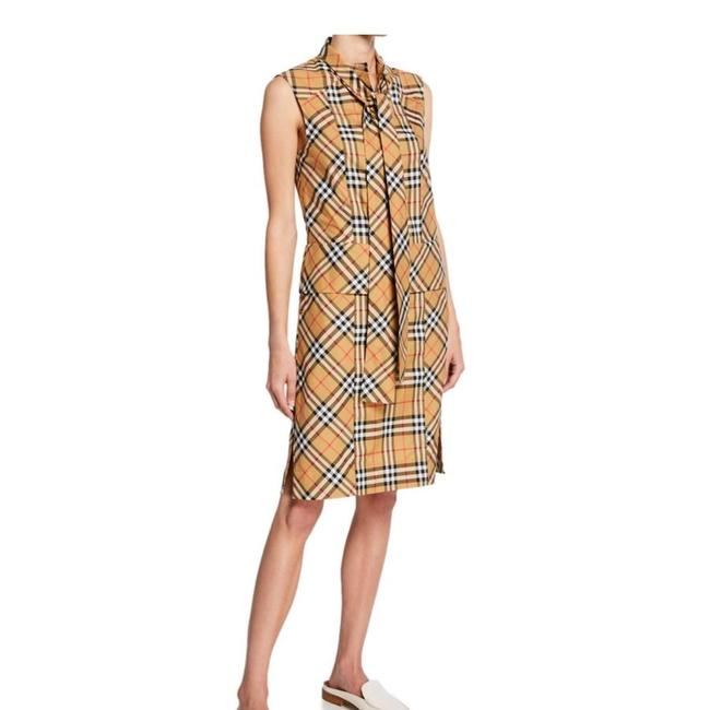 Preload https://img-static.tradesy.com/item/24512324/burberry-antique-yellow-check-luna-tie-neck-mid-length-workoffice-dress-size-8-m-0-0-650-650.jpg