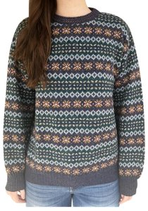 e411a3f57e4a United Colors of Benetton Shetland Wool Fair Isle Nordic Blue ...