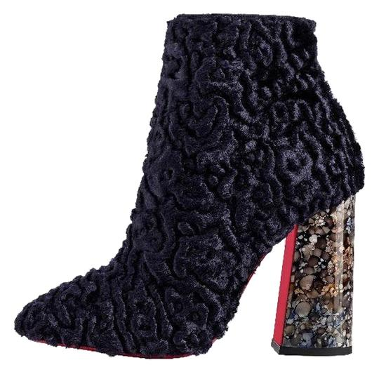 Preload https://img-static.tradesy.com/item/24512413/christian-louboutin-blue-hilconico-100-granite-poodle-stiletto-block-thick-heel-ankle-bootsbooties-s-0-1-540-540.jpg