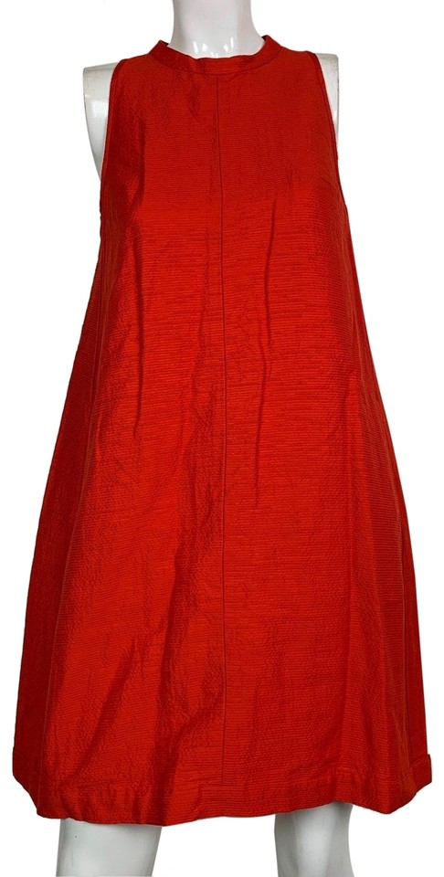 2728a2fda5b Max Mara Red Cechio Silk Cotton Orange Career Cocktail Dress Size 6 ...
