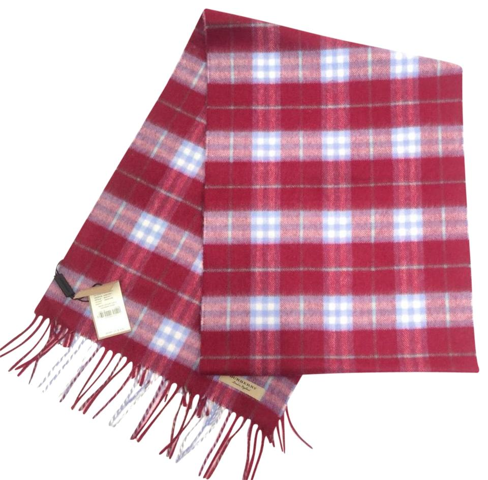 38a978427d66 Burberry Damson Pink Classic Vintage Check Cashmere Scarf Wrap - Tradesy