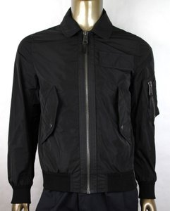 Burberry Black W Men's Nylon Ridgford Jacket W/Plaid Lining It 50/Us 40 4062142 Groomsman Gift