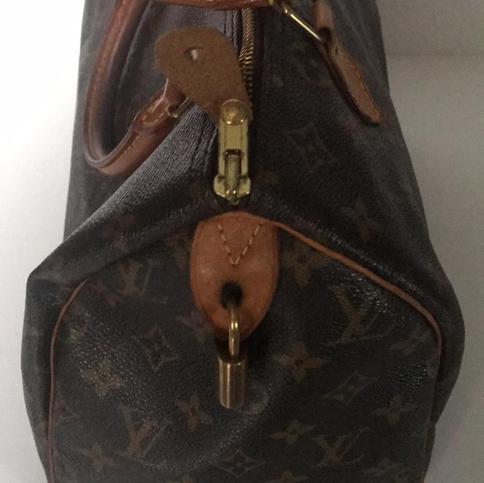 Louis Vuitton Lv Monogram Signature Handbags Brown Calfskin Leather Satchel  - Tradesy e203948f21