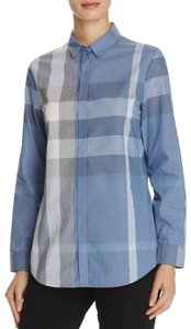 Burberry Button Down Shirt Canvas Blue