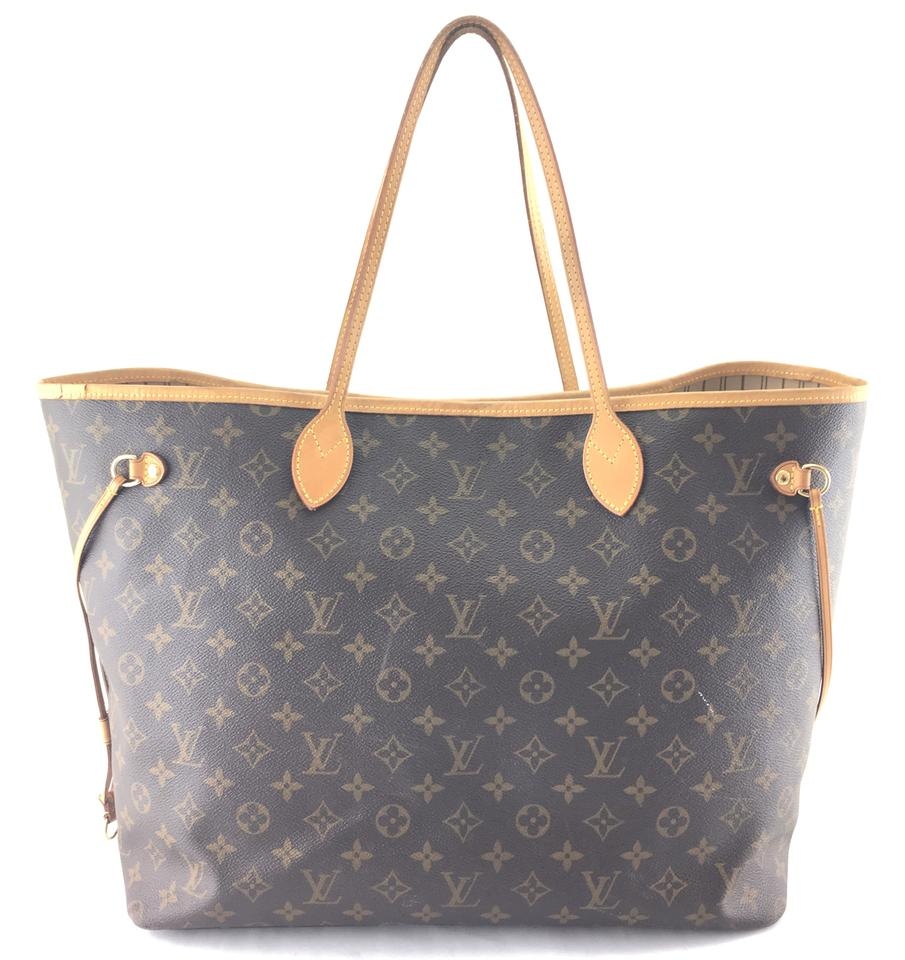 15bcabfa43e59 Louis Vuitton Neverfull #24682 Classic Large Gm Tote Work Monogram Coated Canvas  Shoulder Bag - Tradesy