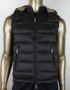 Burberry Black W Brit Men's Moores Vest Jacket W/Detachable Hood S 4020218 Groomsman Gift