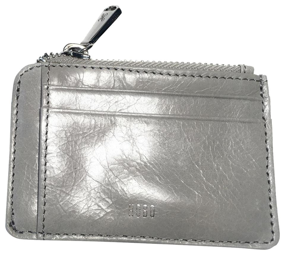 release date: 1f5c0 c275d Hobo International Cloud Grey Kai Leather Card Holder Id Wallet 19% off  retail