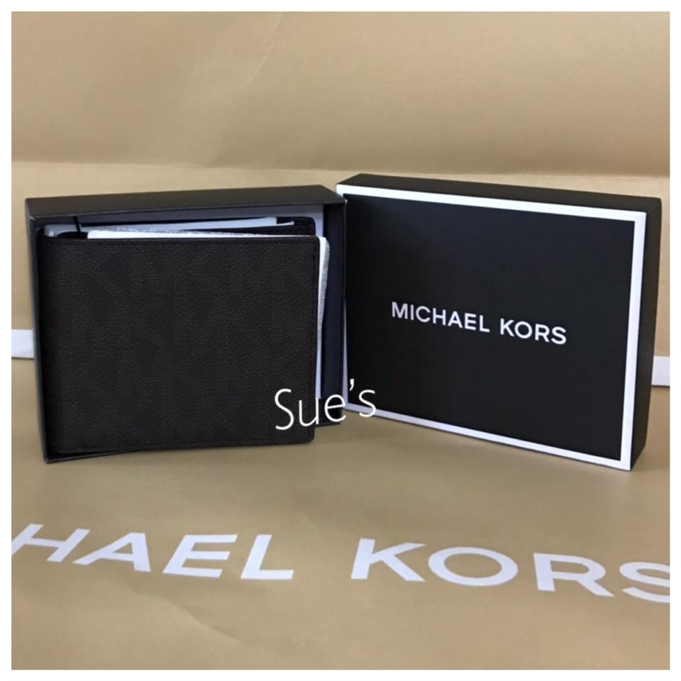 79d997e375b7 Michael Kors Mk Mens Bifold with Passcase In Brown Wallet - Tradesy