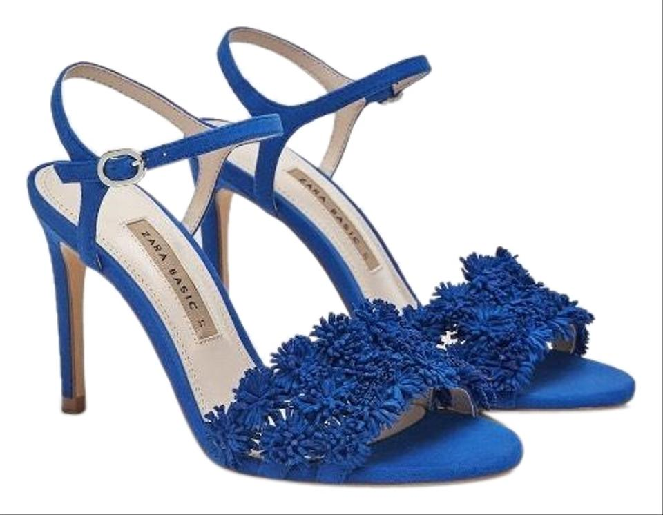 1b43230372b Zara Blue New In Box High Heel Sandals Formal Shoes Size US 8 ...