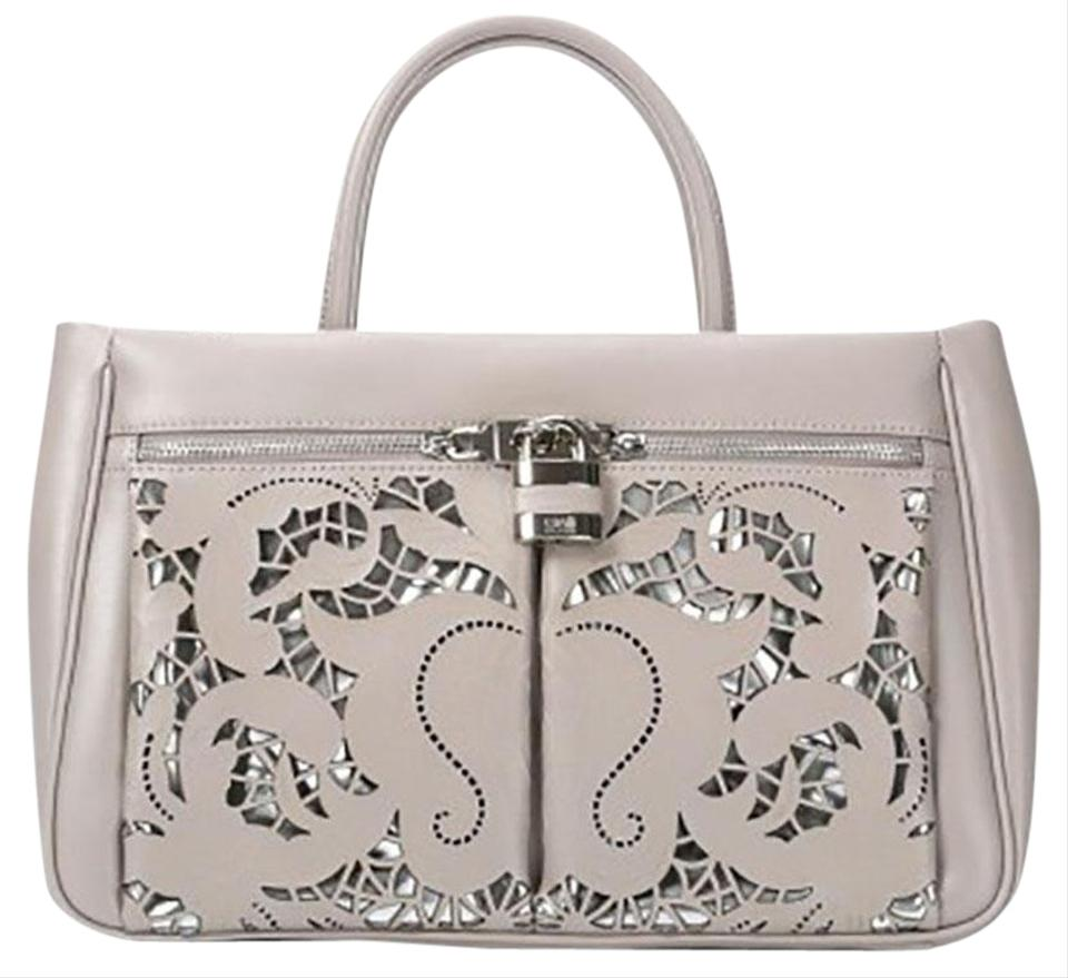 66aa9b3127e9 Roberto Cavalli Class Jolie Small Handbag Off White Leather Shoulder ...