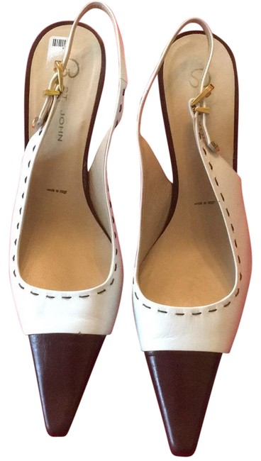Item - Cream / Brown And Chocolate Pumps Size US 9.5 Regular (M, B)