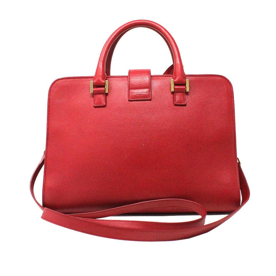Saint Laurent Sac de Jour Ysl Gold Hardware Crossbody Handbag Red Leather  Shoulder Bag - Tradesy adc4bbfda1074