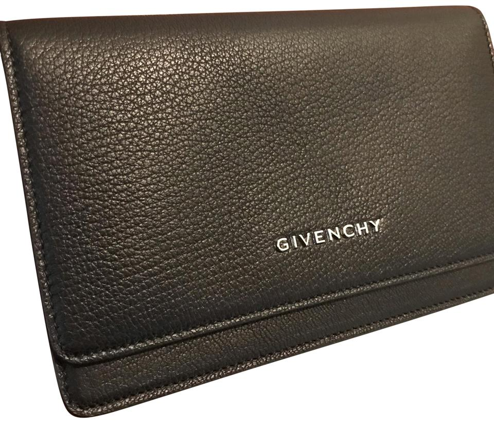 Givenchy Pandora Wallet On Chain Clutch Crossbody Black Goat Skin ... 9f66975530907