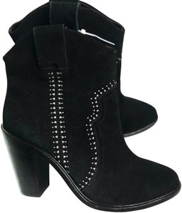 Joie Studded Suede Black Boots