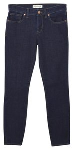 Madewell Fall Winter Holiday Casual Skinny Jeans-Dark Rinse