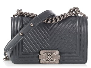 Chanel Chevron Small Quilted Cc Ch.p1116.05 Cross Body Bag