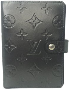 Louis Vuitton Louis Vuitton Matte Black Monogram Vernis Small Ring Agenda PM