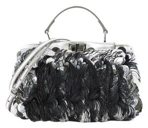 Fendi Handbag Leather Satchel in paillettes