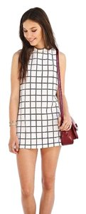 Cooperative short dress windowpane on Tradesy