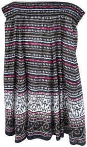 Style & Co Beaded Colorful India Hippie Boho Skirt Multi-Color