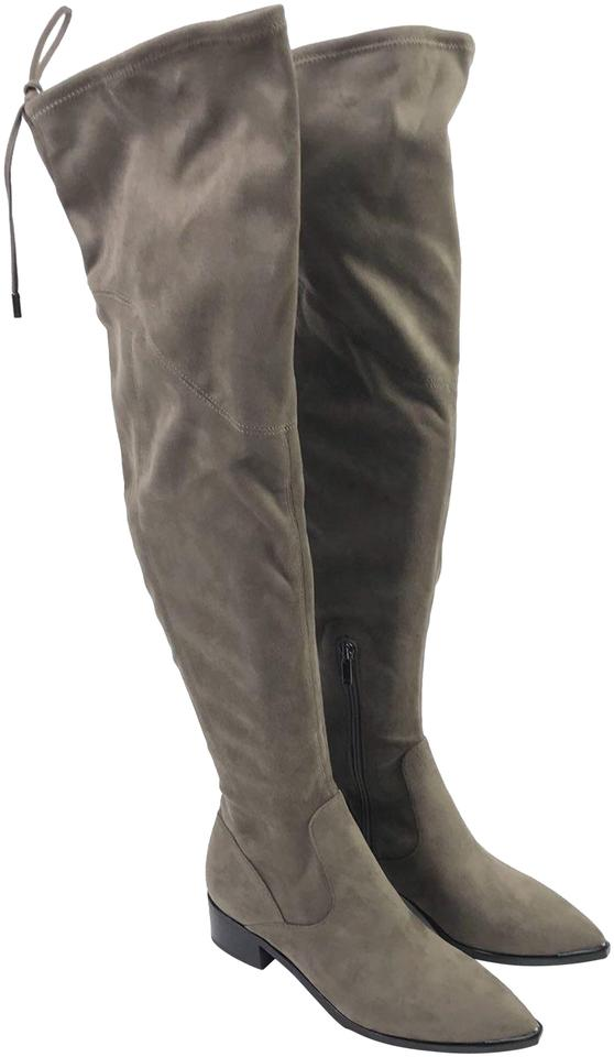 08828be828f Marc Fisher Tan Women s Fabric Over The Knee Boots Booties Size US ...