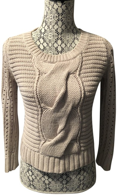 Item - Chunky Cable Knit Beige Sweater