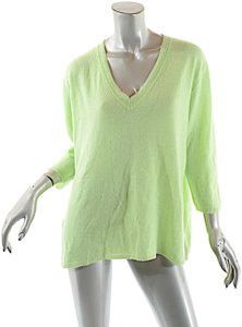 c87ad763be123 Magaschoni Chartreus Cashmere 3 4 Sleeve V Neck Sweater