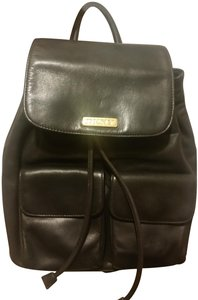 DKNY #gold Hardware #leather Backpack