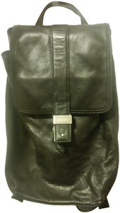 DKNY #leather #silver Hardware Backpack