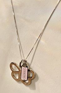 Coach Butterfly with Pink Mini Dog Tag