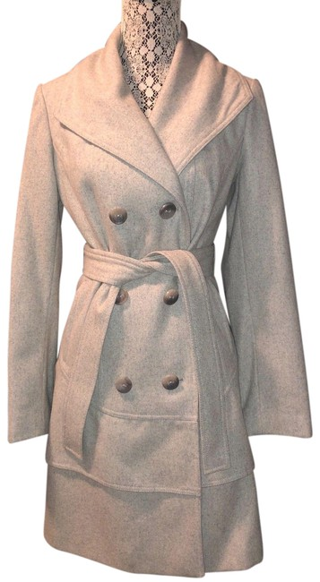Item - Gray Dove Double Breasted Tiered Wool Coat Size 4 (S)